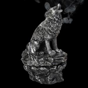 Howling Wolf Smoking Incense Cone Burner