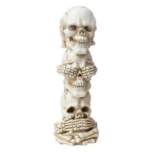 Skull Heads Smoking Incense Burner