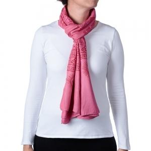 Buddha Shawl or Scarf Pink 208cm X 108cm