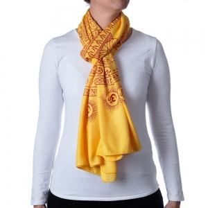 Buddha Shawl or Scarf Yellow 208cm X 108cm