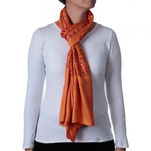Ganesha Shawl or Scarf Orange 208cm X 108cm
