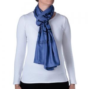 Basic Om Shawl or Scarf Blue 208cm X 108cm