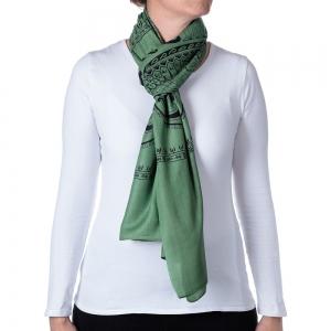 Basic Om Shawl or Scarf Green 208cm X 108cm