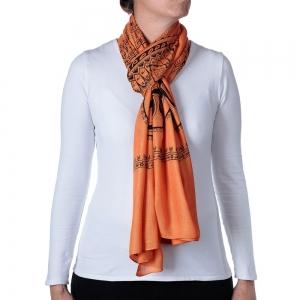 Basic Om Shawl or Scarf Orange 208cm X 108cm