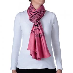 Basic Om Shawl or Scarf Pink 208cm X 108cm