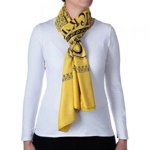 Basic Om Shawl or Scarf Yellow 208cm X 108cm