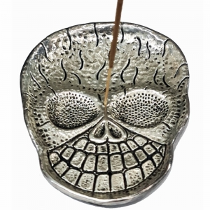 ALUMINIUM INCENSE BURNER - Skull Head 11cm
