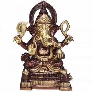 BRASS STATUE - Ganesh 15cm x 25cm