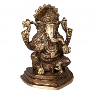 BRASS STATUE - Ganesha 12cm