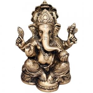 BRASS STATUE - Ganesh 11cmx 15cm