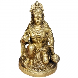 BRASS STATUE - Hanuman 15cmx 22cm