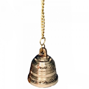 BELL - Brass Haning 6.5cm x 8cm 35cm Long