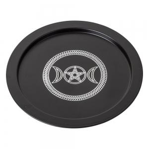 OFFERING PLATE - Pentacle Black 22cm