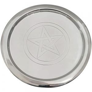 ALTAR PLATE - Pentagram Silver 22cm
