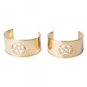 BRACELET - Brass Pentacle Cuffs (Pair)