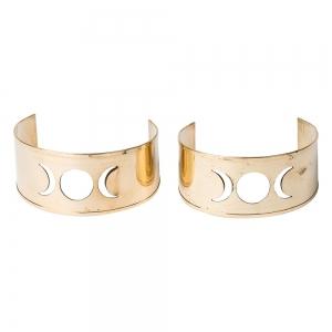 BRACELET - Brass Triple Moon Cuffs (Pair)