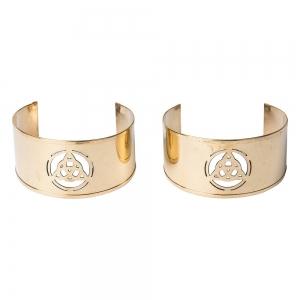 BRACELET - Brass Triquetra Cuffs (Pair)