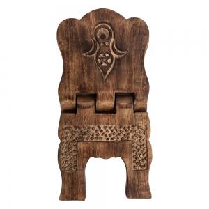 BOOK HOLDER - Wooden Goddess Engraved 18cm x 18cm x 30cm