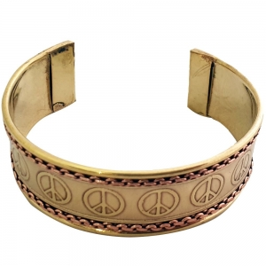 BRACELET - Brass Peace (Pair of 2)