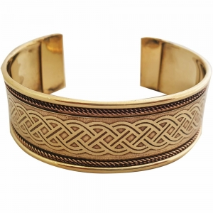 BRACELET - Brass Flower of Life (Pair of 2)