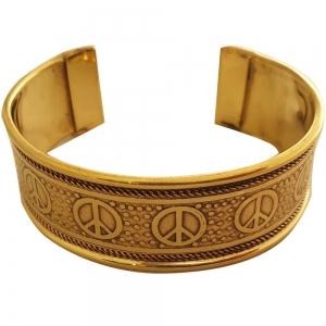 BRACELET - Brass Peace (Pair of 2)