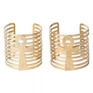 BRACELET - Aankh Brass 8cm (Pair)