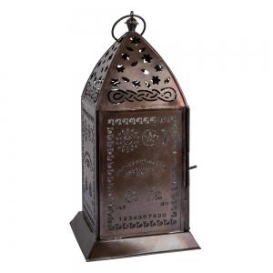 LANTERN - Spirit Board Cut Iron with Glass 13cm x 27cm