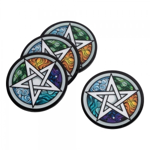 COASTER - Pentacle Print Iron 9cm Set