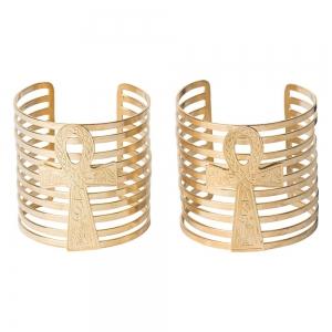 BRACELET - Aankh Brass 6cm (Pair)