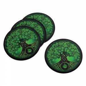 COASTER - Celtic Tree Print Iron 9cm Set