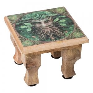 ALTAR TABLE - Green Man Print 11cm x 15cm x 15cm