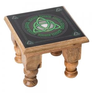 ALTAR TABLE - Triquetra Print 11cm x 15cm x 15cm