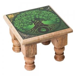 ALTAR TABLE - Tree of Life Print 11cm x 15cm x 15cm