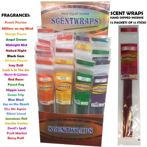 Scent Wraps Incense Display (72 Pack)