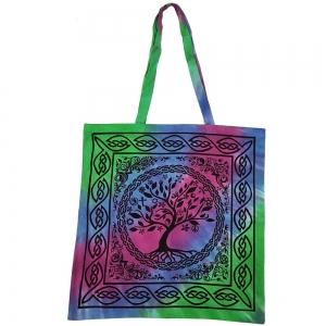 Celtic Tree Green Tote Bag 45x45cm