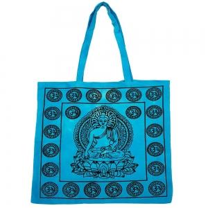 "Lotus Buddha Turq Tote Bag 18""x18"""
