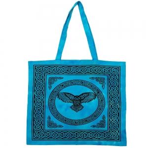 "Owl Turquoise Tote Bag 18""x18"""