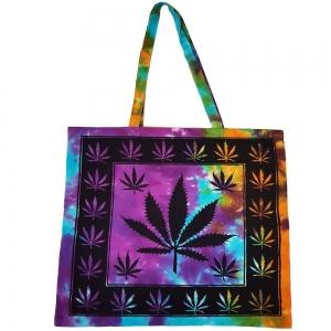 """Hemp Leaf Tie Dye Tote Bag 18""""x18"""""""