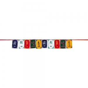 PRAYER FLAG - Om Mani 3.8cm x 6.3cm