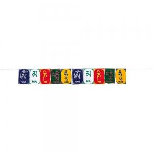 PRAYER FLAG - Om Mani 5cm x 7.6cm