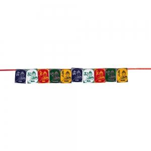 PRAYER FLAG - Buddha Om Mani 6.3cm x 7.6cm