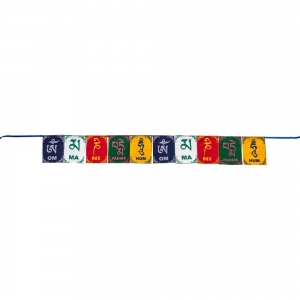 PRAYER FLAG - Buddha Om Mani 8.9cm x 11.4cm
