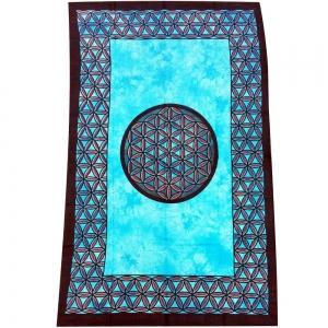 Flower of Life Blue Tapestry 140cm x 200cm