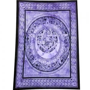 Celtic Pentacle Purple Tapestry 140cm x 200cm