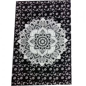 Manala Black & White Tapestry 140cmx200cm