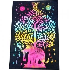 Elephant Tree Tie Dye Tapestry 140cm x 200cm