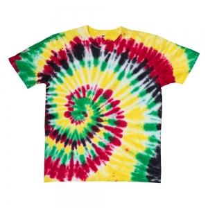 T SHIRT - Rasta Tie Dye L