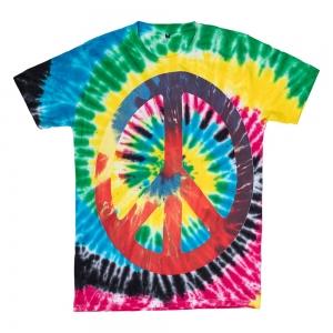 T SHIRT - Peace Tie Dye XL