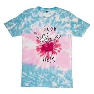 T SHIRT - Good Vibes Tie Dye XXL