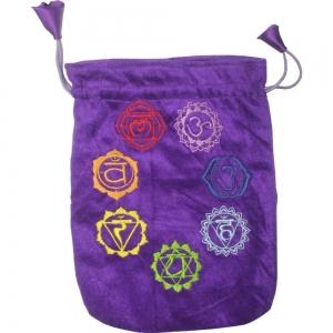 7 Chakra Purple Velvet Bag